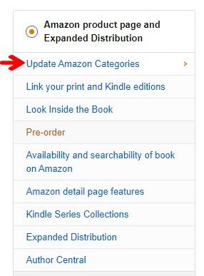 Amazon KDP Add Categories