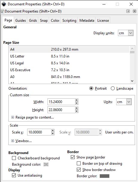 Inkscape Page Setup for Amazon KDP Low Content Publishing