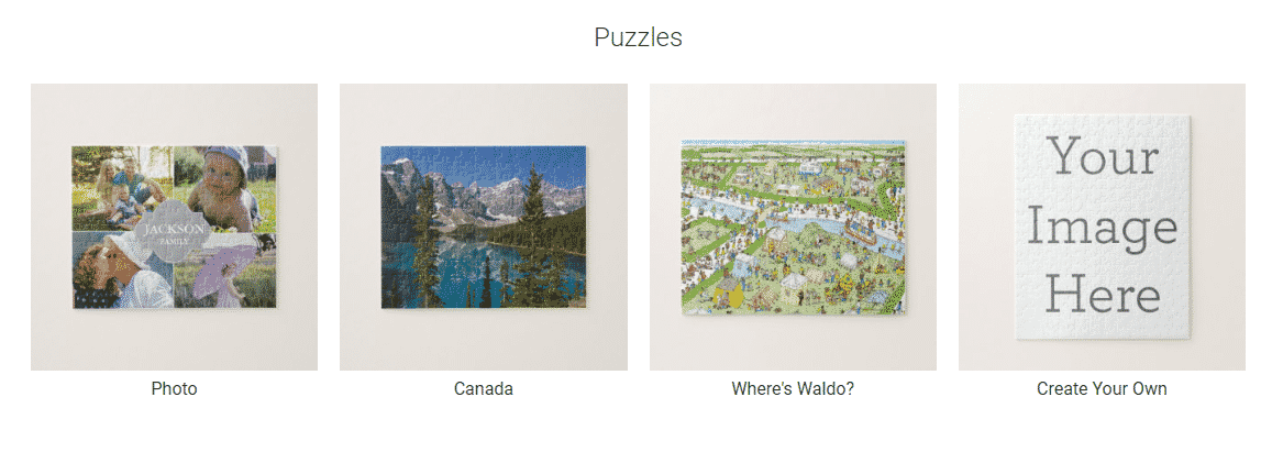 Selling puzzles on Zazzle
