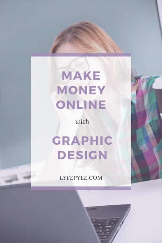 Ways to make money online with graphic design pin