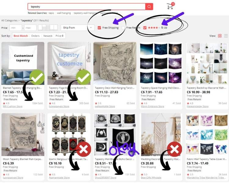Dropshipping from AliExpress Sample Picture