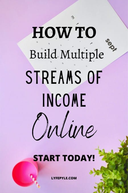 HOW TO build multiple streams of income Pinterest Pin