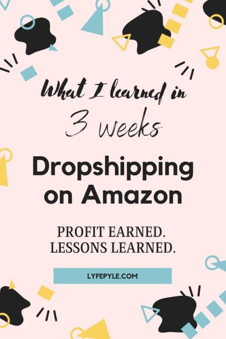My Dropshipping Experience Pin for Pinterest