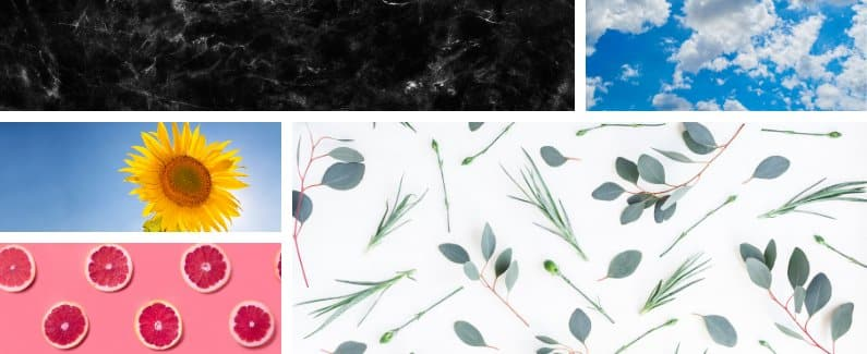 Various Stock photos and patterns from commercial free sites.
