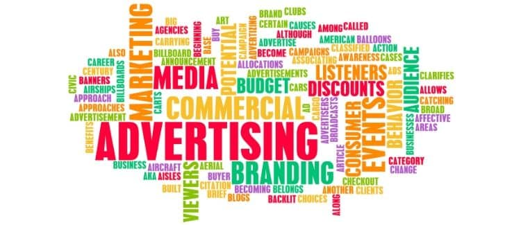 A picture of advertising related words in color related to dropshipping