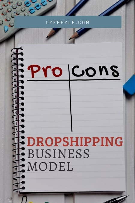 Dropshipping Pros and Cons Pin for Pinterest